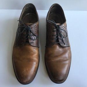 Johnston & Murphy Conard Saddle Oxford Shoes Brown